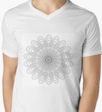 Round graphic, geometric decorative, mandalas or henna design in vector. Men's V-Neck T-Shirt