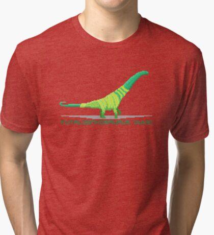 Pixel Futalognkosaurus Tri-blend T-Shirt