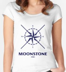Dunkirk Movie - Moonstone Boat Nautical Logo Women's Fitted Scoop T-Shirt
