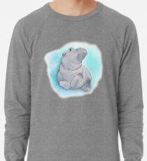 Fiona das Baby-Flusspferd-Schwimmen Leichtes Sweatshirt