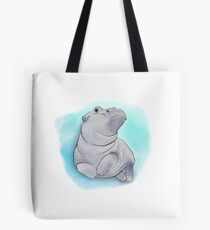 Fiona the Baby Hippo Swimming Tote Bag
