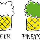 beer and pineapple by Kopfzirkus