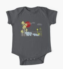 Ellephant Family In The Forest One Piece - Short Sleeve