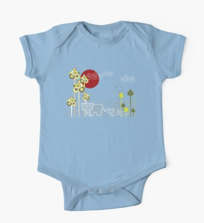 Ellephant Family In The Forest Kids Clothes