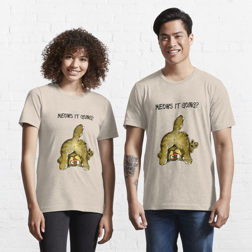 Meows It Going Cat Cartoon Essential T-Shirt