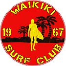 SURFING WAIKIKI BEACH HAWAII VINTAGE by MyHandmadeSigns