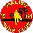 SURFING MALIBU CALIFORNIA SURF CLUB VINTAGE SURFER by MyHandmadeSigns