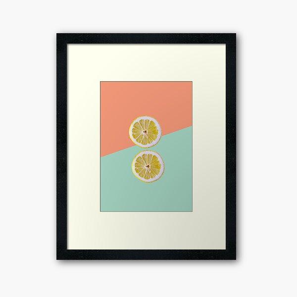 Lemon 01 Gerahmter Kunstdruck