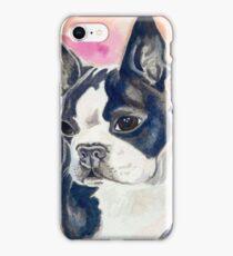 Boston Terrier Watercolor iPhone Case/Skin