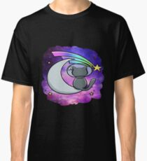 Cool Space T-Shirt - Vintage Hipster Moon Cat Classic T-Shirt