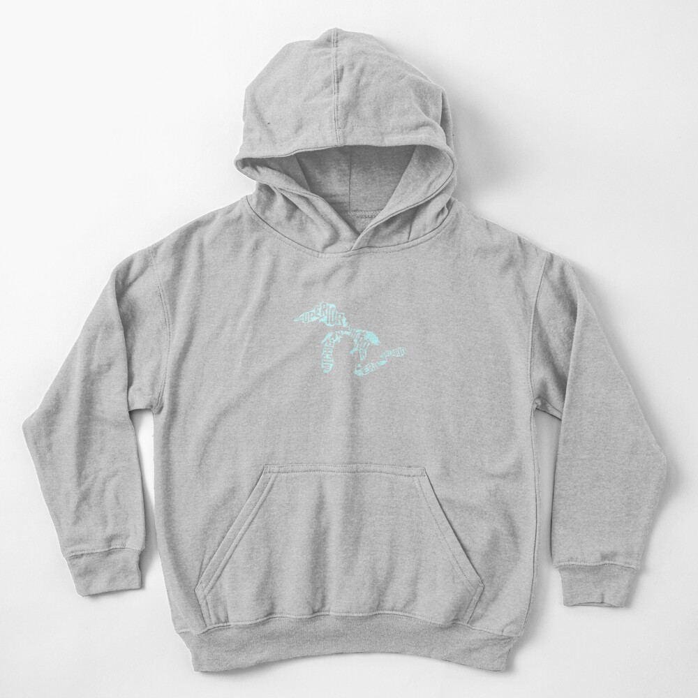 Great Lakes Text Kids Pullover Hoodie
