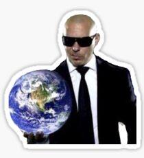 Mr. Worldwide Sticker