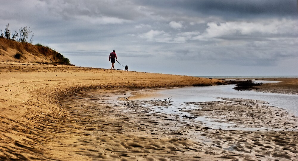 Walking the dog by Marianne
