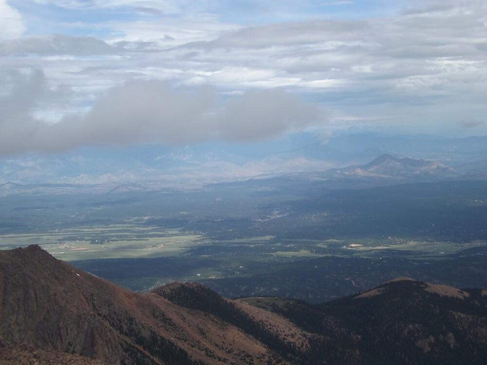 View from Pikes Peak, Elevation 14,200 Feet, Colorado Springs, Colorado by lenspiro