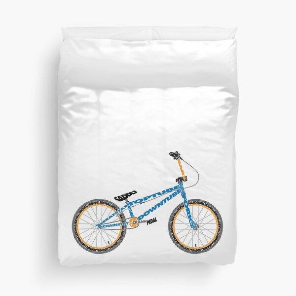 Anatomy of a BMX Bike Duvet Cover