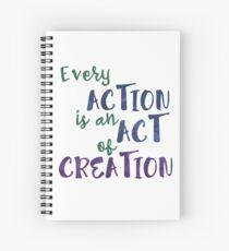 Cuaderno de espiral Acto de creación