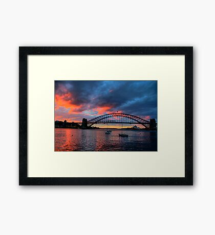 Scarlet - Moods Of A City # 42 - The HDR Series Framed Print