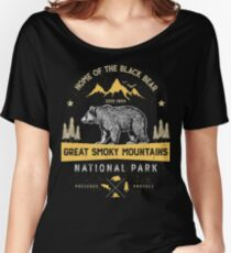 Great Smoky Mountains National Park Bear T shirt Vintage Women's Relaxed Fit T-Shirt