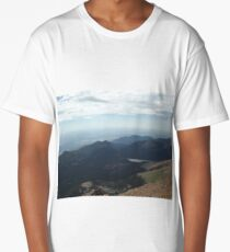 View from Pikes Peak, Elevation 14,200 Feet, Colorado Springs, Colorado Long T-Shirt