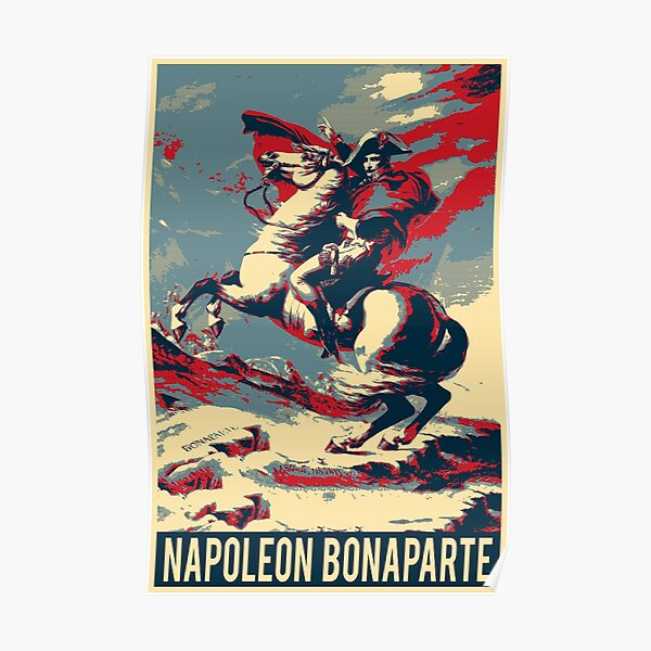 Napoleon Crossing the Alps - Napoleon at the Saint-Bernard Pass Revisited Poster