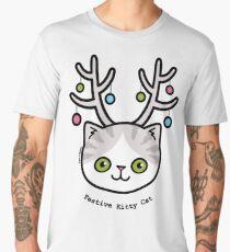 Festive Kitty Cat Men's Premium T-Shirt