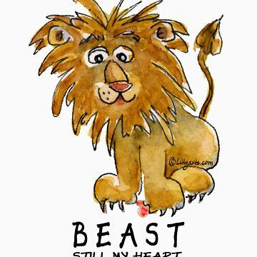 Beast Still My Heart Cartoon Lion by Lillyarts