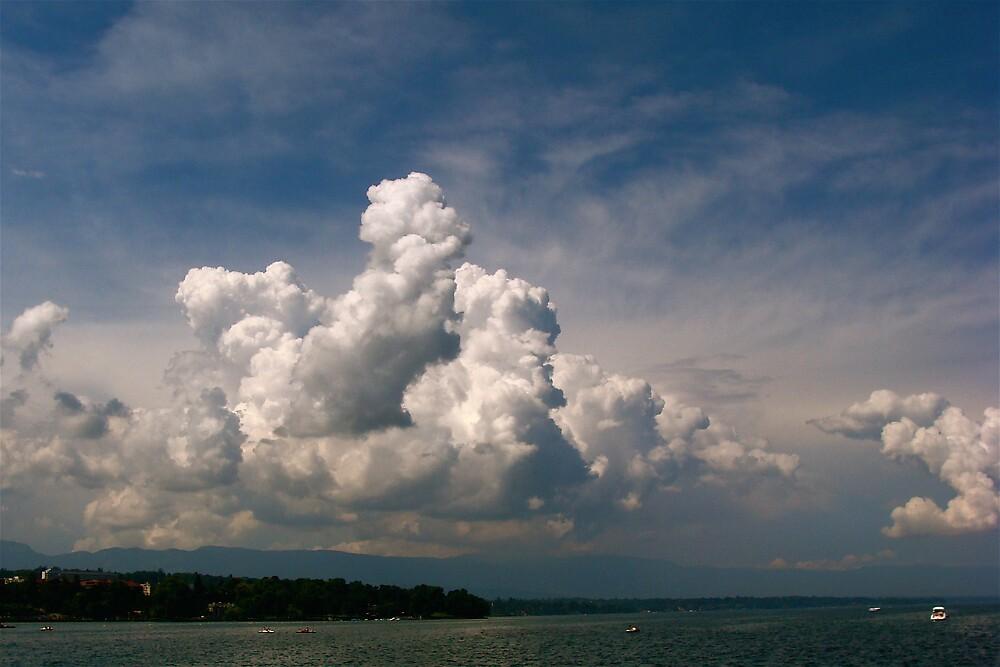 sky over lake Geneva .... by anisja