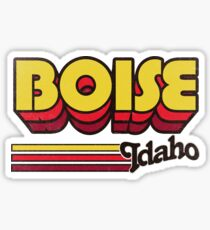 Boise, ID | City Stripes Sticker