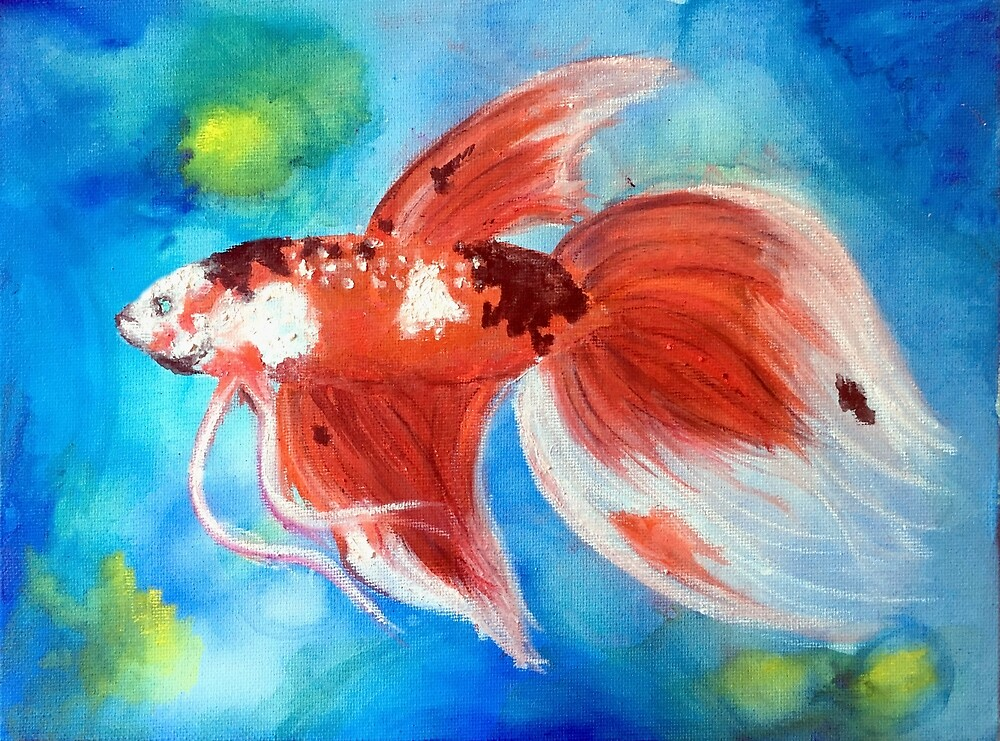Koi Betta by PaintedPuffer