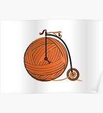 Orange Yarn Farthing Poster