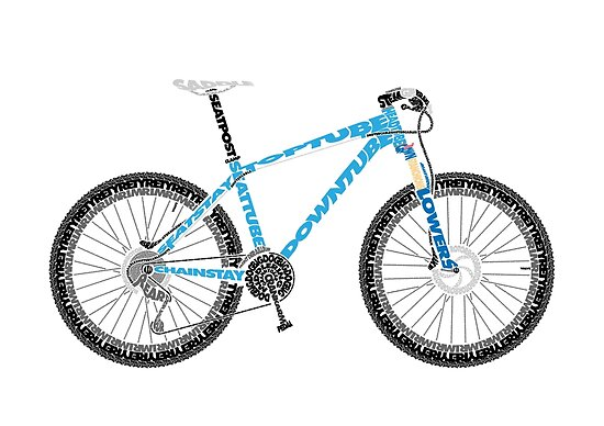 Typographical Anatomy of a Mountain Bike\