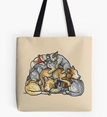 Sleeping pile of Australian Cattle Dogs Tote Bag