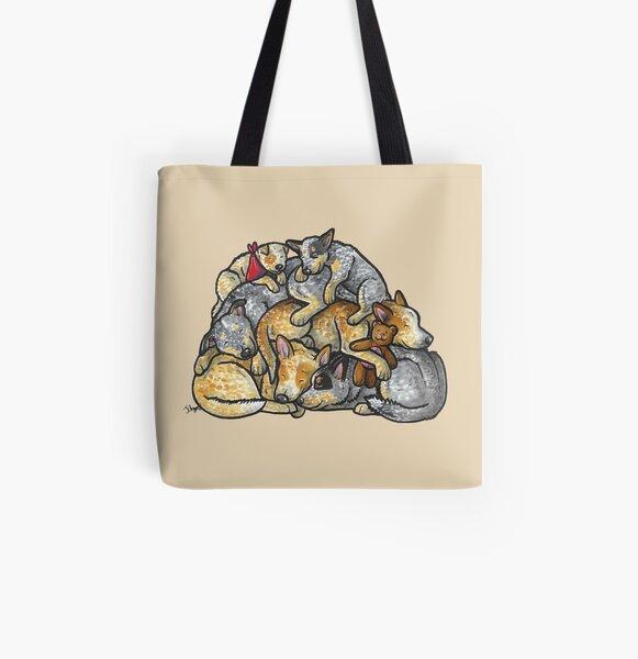Dormir des chiens de bovins australiens Tote bag doublé