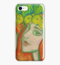 Dandelions, Guinger Girls, Orange, Green & Yellow iPhone Case/Skin