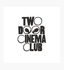 Two door cinema club cat eyes simple logo Photographic Print