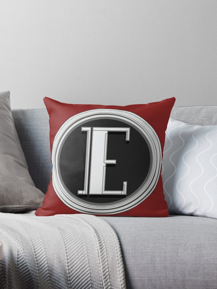 Deco Cafe Marquee  Monogram  letter E by CecelyBloom