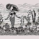 Mermaid doodle art  ( 246 Views) by aldona