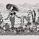 Mermaid doodle art  ( 286 Views) by aldona