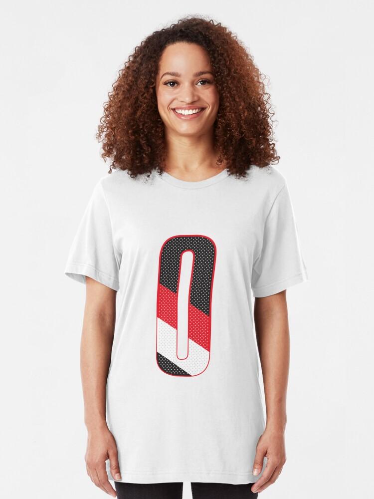 """WHITE Damian Lilliard Portland Trailblazers /""""Big Game Dame/"""" Tshirt Shirt"""