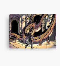 Facing the Dragon Canvas Print