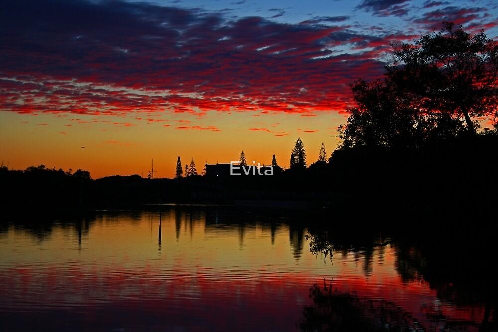 Sunrise Reflection by Evita