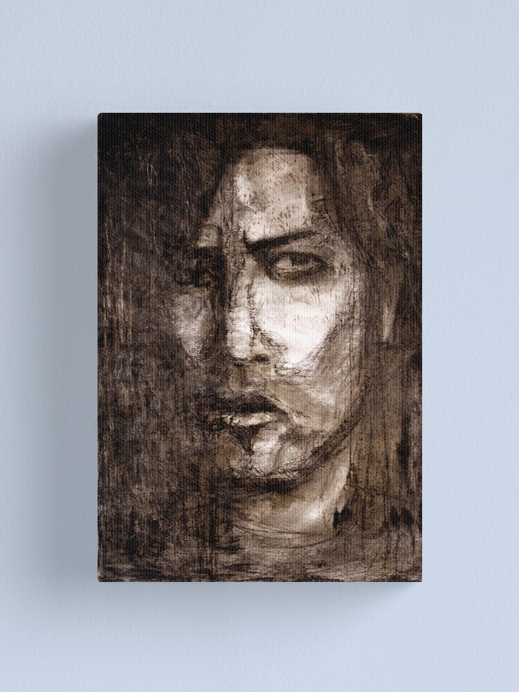 Alternate view of portrait of skepticism Canvas Print