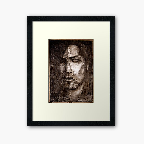portrait of skepticism Framed Art Print