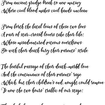 Romeo and Juliet prologue by angelinamariav