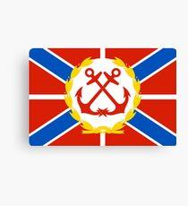 Russian Naval Flags Russia Flag commander 2000 genstaff Canvas Print