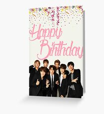 BTS Birthday Card Greeting