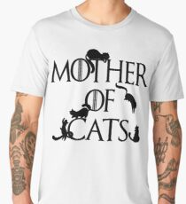 Mother of Cats Daenerys Spoof Crazy Cat Lady GoT Men's Premium T-Shirt
