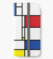Mondrian Minimalist De Stijl Moderne Kunst iPhone Flip-Case/Hülle/Skin