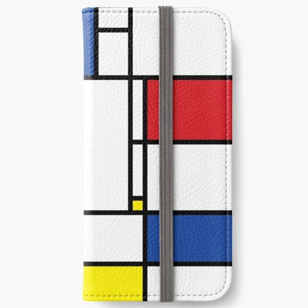 Mondrian Minimalist De Stijl Modern Art © fatfatin iPhone Wallet