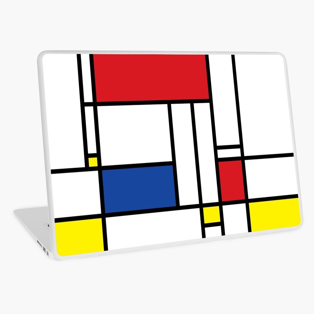 Mondrian Minimalist De Stijl Moderne Kunst Laptop Folie